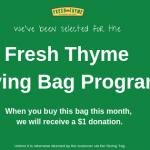Fresh Thyme Giving Bag Program